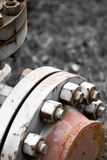 Metal pipe junction Royalty Free Stock Image