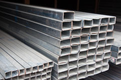 Metal pipe stack Royalty Free Stock Photo