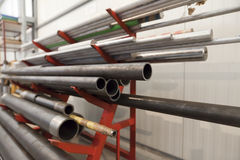 Metal pipe stack Royalty Free Stock Photography