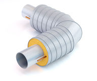 Metal pipe with thermal insulation Royalty Free Stock Photography