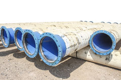 Metal pipe for water city supply Royalty Free Stock Photo
