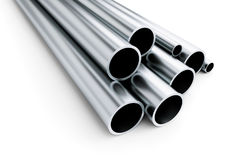 Metal pipe on white background. on a white background 3D illustration, Royalty Free Stock Photos