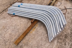 Metal pipeline in group Royalty Free Stock Images