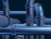 Metal pipelines Royalty Free Stock Photos