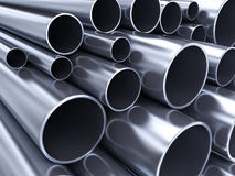 Metal pipes Stock Photos