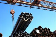 Metal pipes Stock Photos