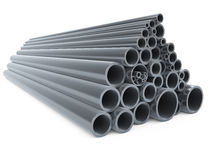 Metal pipes Royalty Free Stock Photos