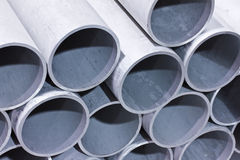 Metal pipes. Reading for manufacturing stock image