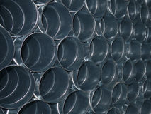 Metal pipes. For air-conditioning installation Stock Photography
