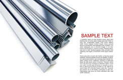 Metal pipes, angles, channels, squares. On a white background Royalty Free Stock Image
