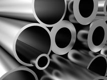 Metal pipes background Royalty Free Stock Image