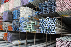 Metal pipes. For construction industries Royalty Free Stock Photos