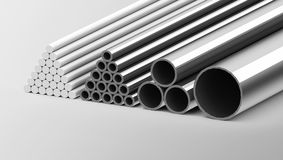 Metal pipes Stock Photography