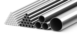 Metal pipes Royalty Free Stock Image