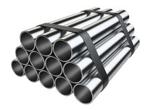Metal pipes. Stock Image