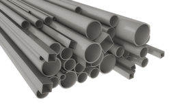 Metal pipes of different shapes and sizes Stock Image
