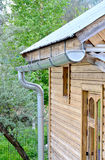 Metal pipes for draining rainwater Stock Photos