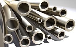 Metal pipes for the installation of Royalty Free Stock Photography