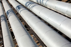 Metal pipes of metallurgical plant Stock Image