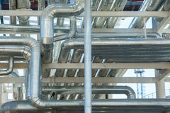 Metal pipes of metallurgical plant Stock Photo