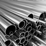 Metal pipes  stack. Royalty Free Stock Images