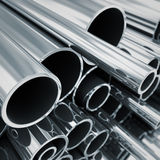 Metal pipes. Royalty Free Stock Image