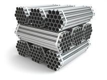 Metal pipes. Steel industry Stock Photo