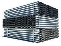 Metal pipes. Steel industry Stock Image
