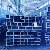 Metal pipes in a warehouse Royalty Free Stock Photo