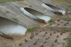 Metal Pipes for Water Control royalty free stock photo