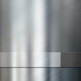 Metal a placa da listra sobre a ilustração metálica do fundo 3d Fotografia de Stock