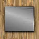 Metal on a planks Royalty Free Stock Images