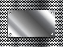 Metal Plaque Royalty Free Stock Photography