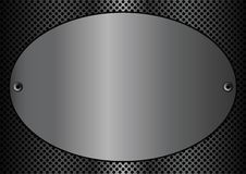 Metal plaque oval. Vector illustration of a metallic plaque for signage Royalty Free Stock Photos