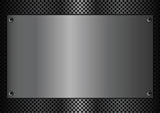 Metal plaque rectangle. Vector illustration of a metallic plaque for signage Stock Image