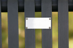 Metal Plaque. With space for text Royalty Free Stock Photos