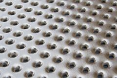 Metal plate. With symmetrical holes Royalty Free Stock Image