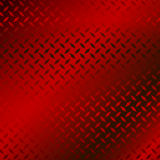Metal plate. Dark red polished metal plate with diamond design Royalty Free Stock Photo