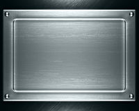 Metal plate. Polished metal plate steel background Stock Images