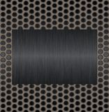 Metal plate. Black abstract background imitating mesh structure Royalty Free Stock Image