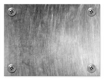 Metal plate. Royalty Free Stock Image