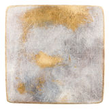 Metal plate. Grungy  scratched metal plate isolated on white Stock Images