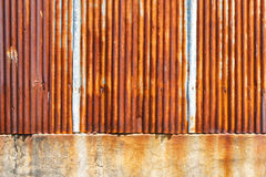 Metal plate. Rusty on zinc metal plate Stock Image