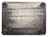 Metal plate Royalty Free Stock Image