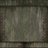 Metal plate. A large image of old metal plate with marks and slime Royalty Free Stock Photos