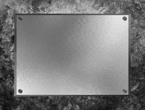 The Metal Plate Stock Photo
