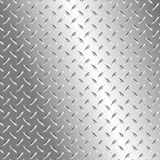 Metal plate. Vector illustration of the metal plate with diamond ribs Stock Photography