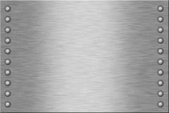 Metal Plate. With two rows of rivets Stock Photography