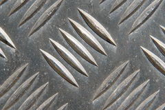 Metal Plate. Detail of a metal surface Royalty Free Stock Photography