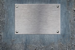 Metal Plate background Royalty Free Stock Photos